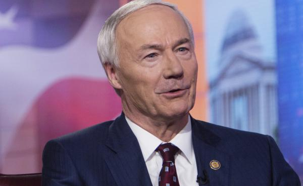 """Arkansas Gov. Asa Hutchinson, pictured in 2019, on Monday said the bill banning gender-affirming medical care for transgender youth would set """"new standards of legislative interference with physicians and parents as they deal with some of the most complex"""