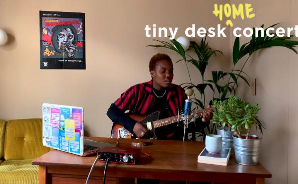 Arlo Parks plays a Tiny Desk (home) concert.