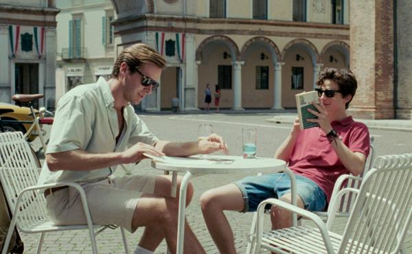 In Call Me By Your Name, Oliver (Armie Hammer, left) and Elio (Timothée Chalamet) spend a summer falling in love in Northern Italy.