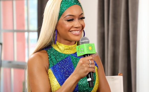 Saweetie speaks at Sprite's Live from the Label Virtual Concert Series in Los Angeles. The best-selling rapper recently became the latest celebrity to have her own branded meal at McDonald's.
