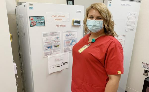 Although she coordinates COVID vaccinations at the federally-subsidized clinic in Linden, Tenn., nurse Kirstie Allen has not yet gotten the vaccine herself. She wants to wait a while and see more research first. In Tennessee, only 42% of adults have recei
