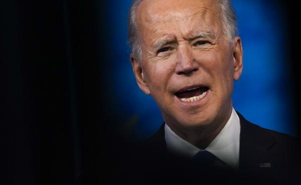 President-elect Joe Biden speaks after the Electoral College formally elected him as president Monday.