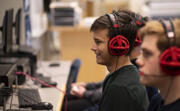 Scooter Norton, captain of the Washington-Liberty High School's Rocket League team, says before the team was playing to improve, but now they have a goal in mind.