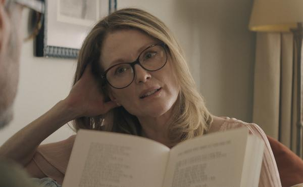 """""""Every life is interesting and valuable ... we are all at the center of our own narratives,"""" says Julianne Moore. She stars as Gloria Bell in a remake of the 2013 Chilean film Gloria. Sebastián Lelio directed both films."""