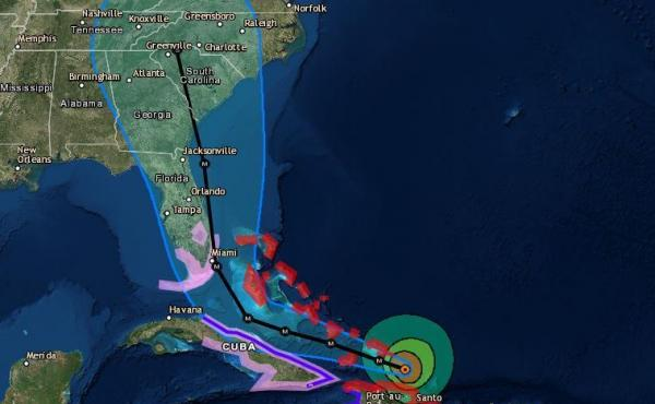"""""""The chance of direct impacts is increasing in portions of Georgia, South Carolina and North Carolina,"""" the National Hurricane Center says of Hurricane Irma."""