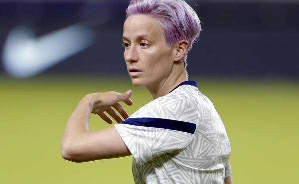 """Megan Rapinoe says she uses a variety of CBD products as part of the """"all-natural recovery system"""" that has become part of her daily routine."""