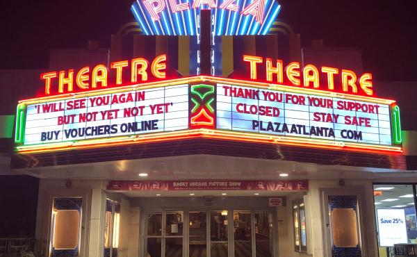 """In Georgia, Gov. Brian Kemp has authorized the opening of theaters, but Chris Escobar, owner of the Plaza Theatre in Atlanta, won't be unlocking the doors quite yet. """"I'm not forcing my employees to choose between their livelihoods and their lives,"""" he sa"""