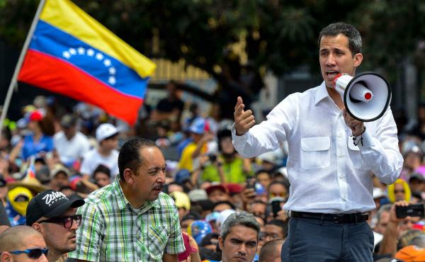 Protesters took to the streets Saturday with tensions rising between opposition leader Juan Guaidó and President Nicolás Maduro, as crisis-wracked Venezuela began to emerge from the chaos of an electricity blackout.