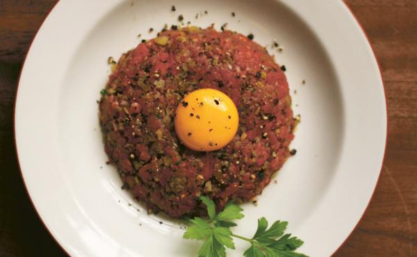Assassin's Steak Tartare, one of the recipes from Yashim Cooks Istanbul, inspired by the dishes cooked by the lead character in the popular Yashim detective series of books.