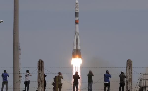 A Soyuz spacecraft carrying a new crew to the International Space Station, ISS, blasted off Thursday from the Baikonur cosmodrome in Kazakhstan.