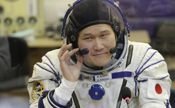 Norishige Kanai prior the launch of the Soyuz-FG rocket in Kazakhstan on Dec. 17. As is the norm, the Japanese astronaut grew in outer space, just not by as much as he initially thought.