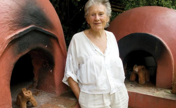"""Kennedy uses her own bread ovens at her house, """"Quinta Diana,"""" in Michoacán, Mexico."""
