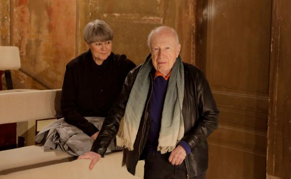 Peter Brook and Marie-Hélène Estienne, his co-director and co-writer on the new show Why?