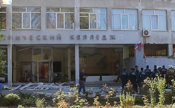 Gunfire and an explosion rocked a technical school in Crimea on Wednesday. At least 17 people were killed and 40 others were wounded in the attack, reports said.
