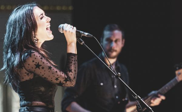 Aubrie Sellers performs live at the 2019 AmericanaFest Day Stage in Nashville.