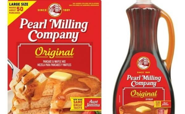 Pearl Milling Company maintains the iconic red and yellow colors of the Aunt Jemima brand. The new brand will hit store shelves in June.