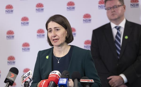 New South Wales Premier Gladys Berejiklian speaks at a news conference in Sydney earlier this week.