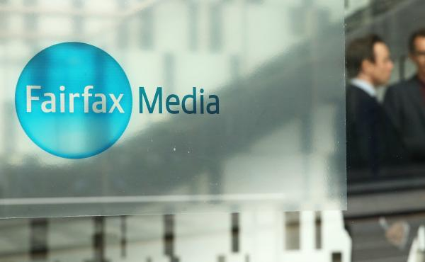 The Fairfax Media logo is seen on the outside of their offices on Thursday in Melbourne, Australia.
