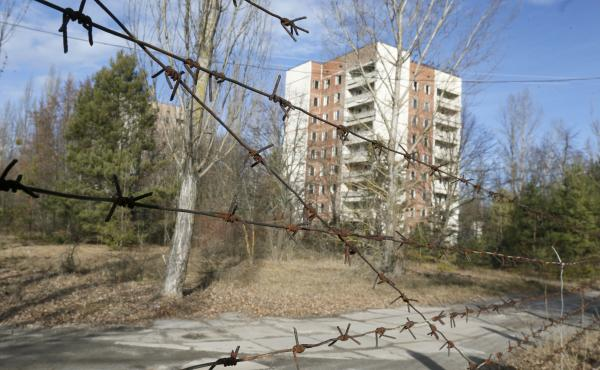 """While researching his book, Mark O'Connell visited Pripyat, Ukraine, a town that was evacuated the day after the disaster at the Chernobyl nuclear power plant in 1986. """"I wanted to see what the end of the world looked like,"""" he says."""