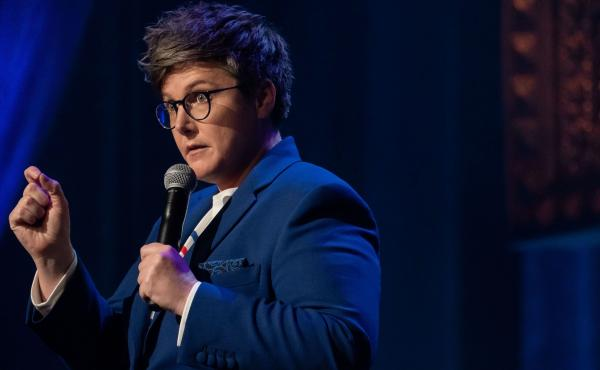 """""""In many ways I appear very good at being social,"""" says comic Hannah Gadsby. """"But it's an incredibly exhausting process for me."""" She found her autism spectrum diagnosis in 2016 helped put her experience into perspective."""