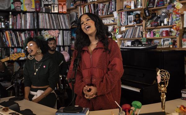Baby Rose plays a Tiny Desk Concert (Kisha Ravi/NPR).