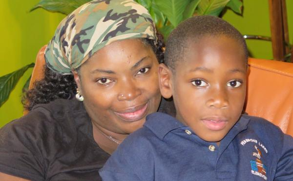 Kendieth Russell Roberts and her 5-year-old son Malachai are living with her sister in Florida.
