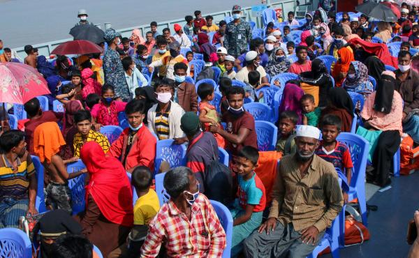 Bangladesh began transporting Rohingya refugees by boat to the island of Bhashan Char, with rights groups alleging people were being misled into leaving.