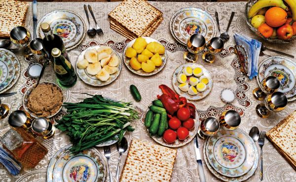 A Passover Seder table. During Passover, Jews avoid leavened bread. But whether legumes, corn and rice are OK has long been a point of contention among Jews of European and Middle Eastern ancestry. Now, rabbis have weighed in.