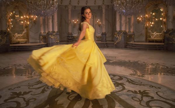 Emma Watson plays Belle in Disney's Beauty and the Beast, a live-action remake of the 1991 animated film.