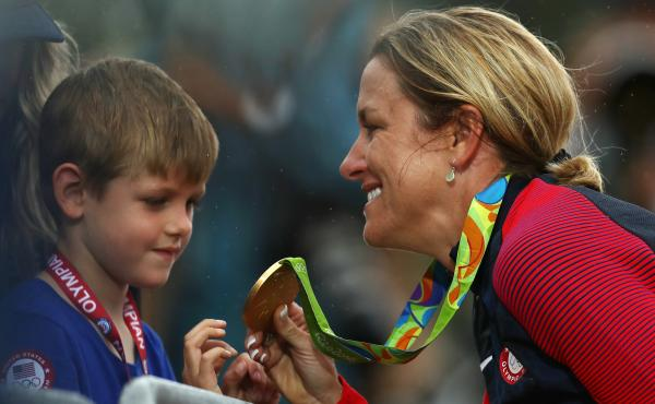 "Time trial champion Kristin Armstrong of the U.S. calls her life as a working mom the ""secret weapon"" that helped her win Olympic gold Wednesday."