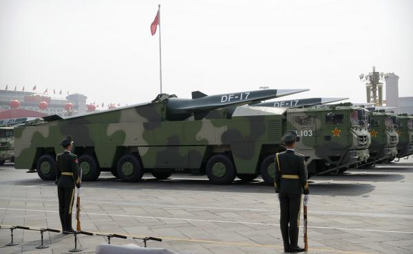China's DF-17 missile is a medium-range hypersonic weapon capable of traveling over five times the speed of sound.