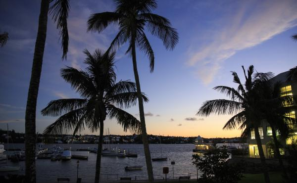 Hamilton Harbour in Hamilton, Bermuda, is seen in November. The island has reversed course on the legalization of same-sex marriage.