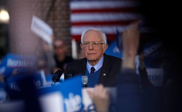 Democratic presidential hopeful Bernie Sanders, behind in the delegate count, is considering his options and what to do now.