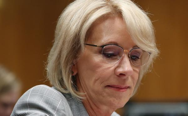 Education Secretary Betsy DeVos faces a new lawsuit filed on Tuesday. It alleges the Dept. of Education has failed to comply with the Borrowers Defense rule, a student loan forgiveness program that would automatically cancel debt for borrowers whose schoo