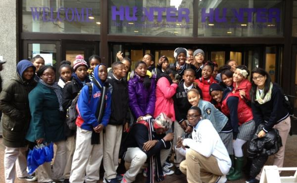 Students from a Harlem Children's Zone school visit Hunter College in New York. College visits are one way schools encourage students to attend college after graduation; now, a growing number of schools are working to help students succeed in college as w