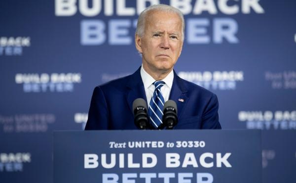 "Presumptive Democratic presidential nominee Joe Biden, seen here on July 21, has unveiled the fourth plank of his ""Build Back Better"" agenda to address racial inequities."