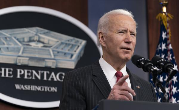 President Biden announced a task force on China issues during his first trip as president to the Pentagon on Wednesday.