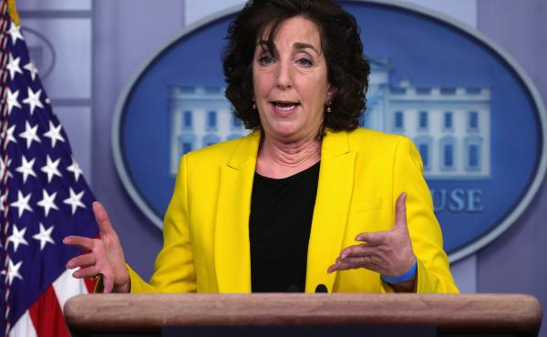 Roberta Jacobson, the White House coordinator for the southern border, addresses migration issues during a daily press briefing this month.