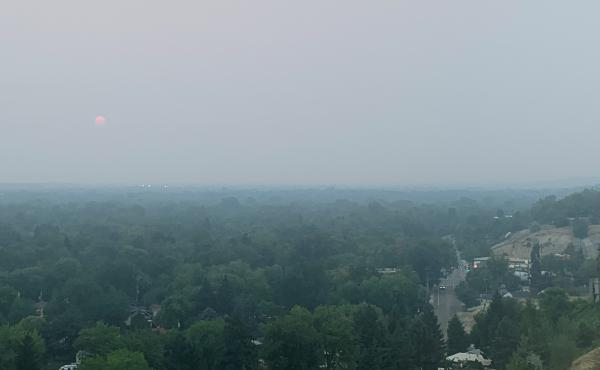 Western wildfires have given Boise, Idaho, one of its smokiest summers on record. President Biden visited the National Interagency Fire Center in Boise on Monday.