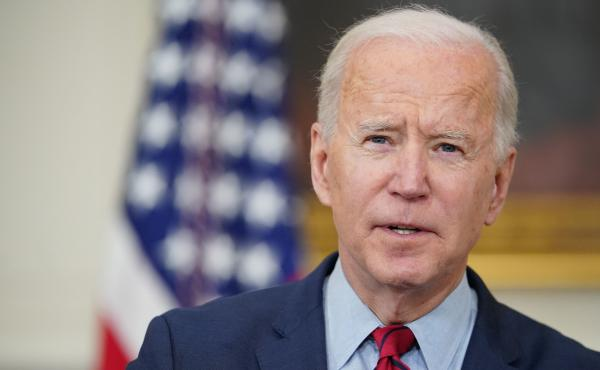 President Biden speaks about the Colorado shootings in the State Dining Room of the White House on Tuesday.