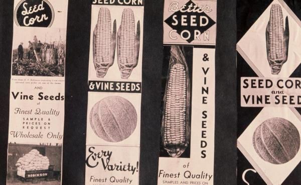 Seed labels from the J.C. Robinson Seed Co.