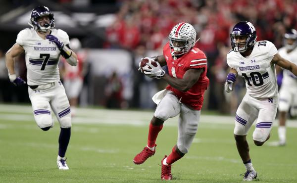 The Big Ten will return to football next month. The conference represents programs such as Ohio State and Northwestern, shown here during a 2018 game.