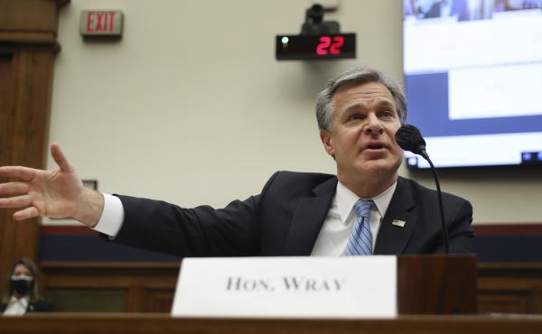FBI Director Christopher Wray testifies Thursday before a House Homeland Security Committee hearing on threats to the homeland.