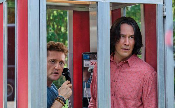Alex Winter and Keanu Reeves play Bill and Ted in Bill & Ted Face The Music.