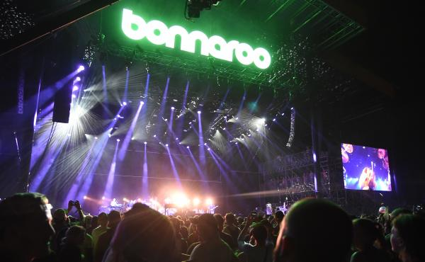 Billy Joel performing at Bonnaroo 2015.