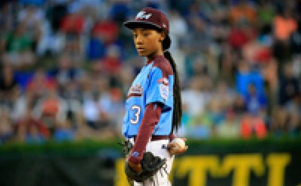 Mo'ne Davis stares down a batter during a Little League World Series game in August.