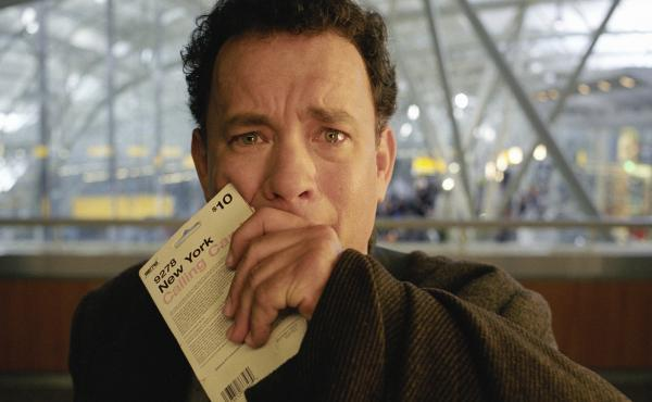 Tom Hanks, perhaps imagining the loss of one of his typewriters.