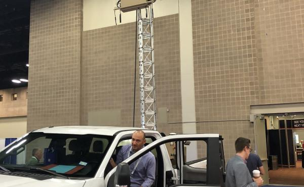 CBP is testing autonomous surveillance towers like this one, parked at the Border Security Expo in San Antonio, to improve the tracking of illegal crossers. Critics of the border wall say the government should favor virtual technology over steel and concr