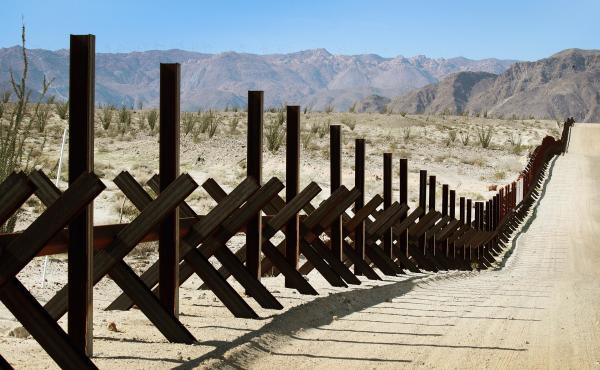 A steel barrier runs along the U.S.-Mexico border near Calexico, Calif. Bipartisan negotiators on Capitol Hill are discussing what kind of physical barriers are needed and how much Congress should spend to address national security issues at the Southwest