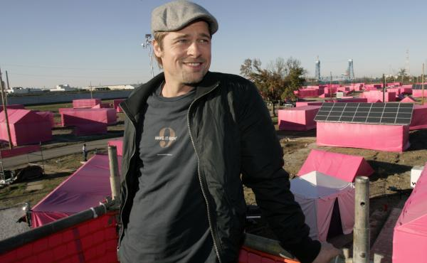 Brad Pitt talked about his plan to build homes in the Lower 9th Ward in New Orleans, in 2007. Years after the Hurricane Katrina tore through the community, some residents said in a lawsuit that their homes are falling apart.